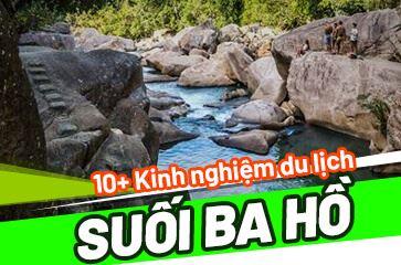 Tham Quan & Khám Phá Tại Suối Ba Hồ Nha Trang