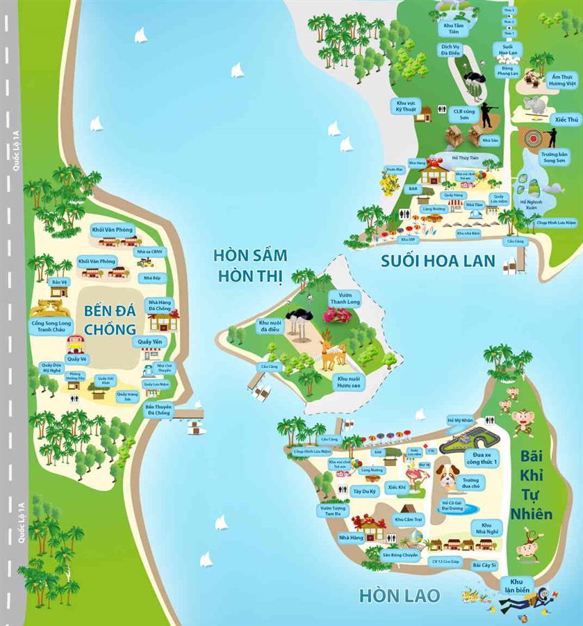 Bản đồ đầm Nha Phu Nha Trang