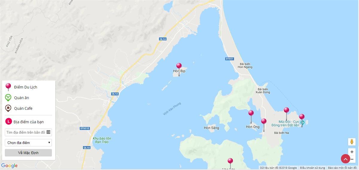 Bản đồ du lịch vịnh Vân Phong