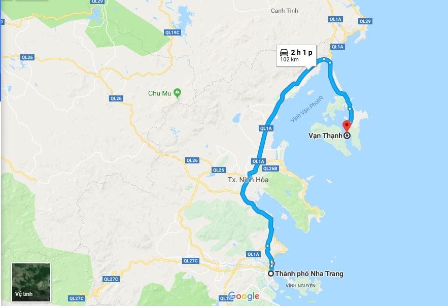 Hướng dẫn đường đi vịnh Vân Phong Nha Trang