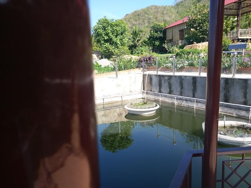 Nhà lục giác giữa hồ