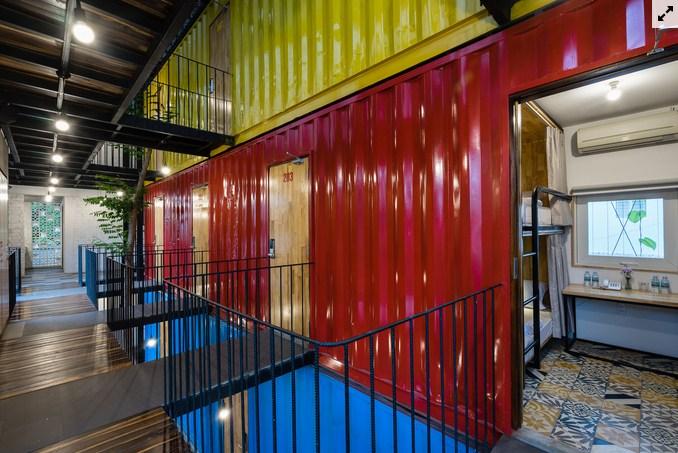 Không gian bên trong của Ccasa Hostel