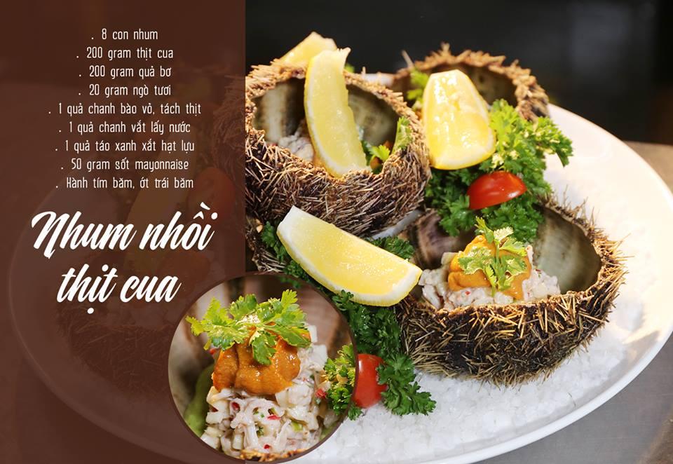 Các món ăn được chế biến từ nhum
