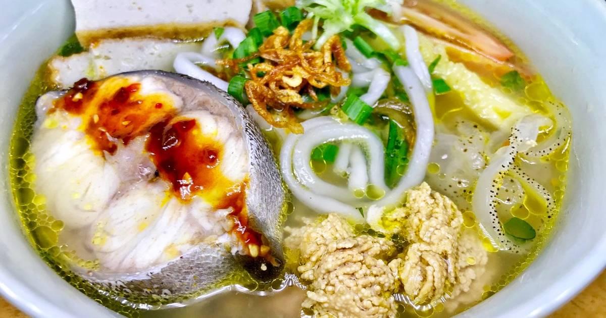 Món bún chả cá sứa