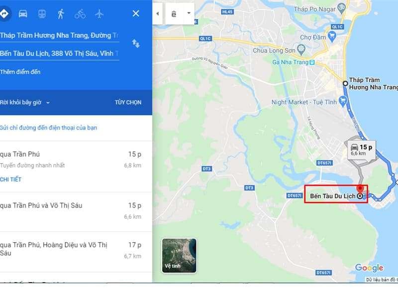 Các Bạn Có Thể Theo Chỉ Dẫn Google Maps Để Di Chuyển
