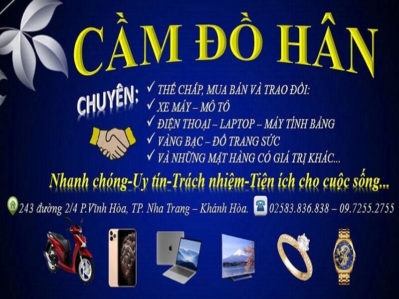 Cầm Đồ Hân Nha Trang