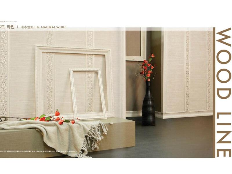 Phào chỉ nhựa hàn quốc gam màu gỗ tạo sự ấm áp, sang trọng cho nội thất