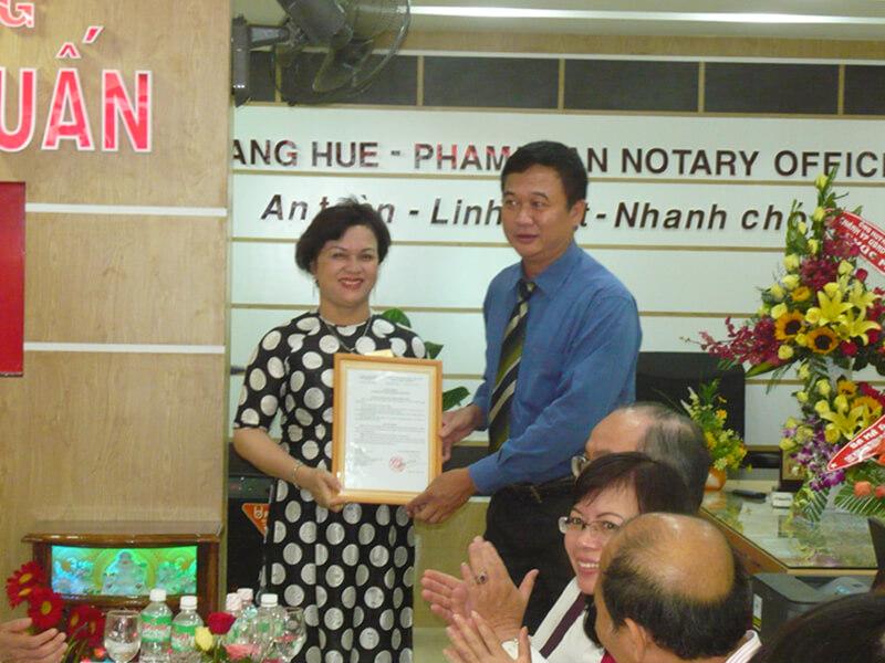 Văn phòng Công chứng Hoàng Huệ – Phạm Tuấn