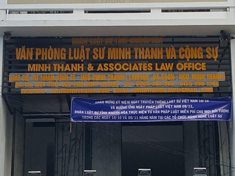 Luật Sư Minh Thanh Nha Trang