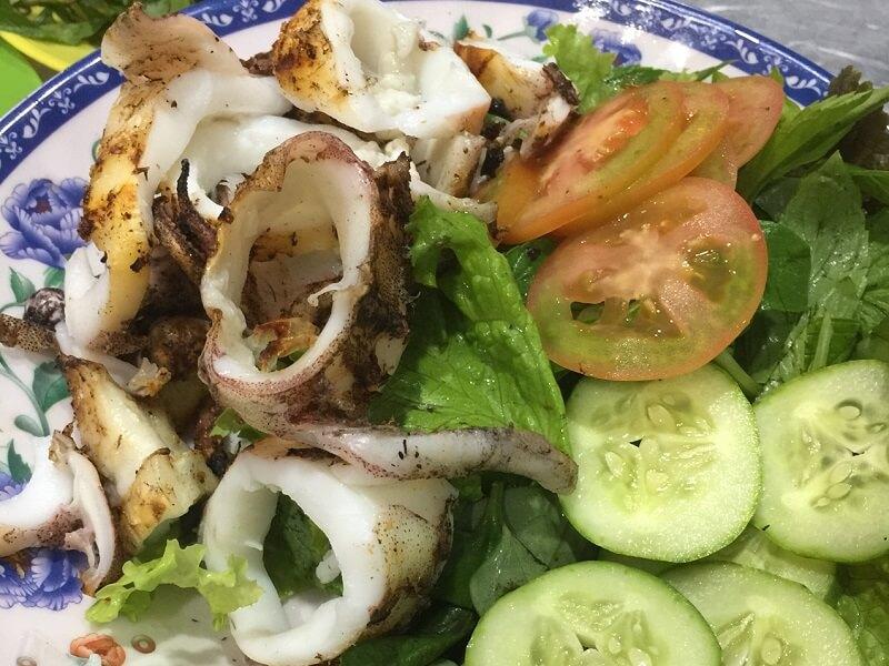 Mực nướng muối ớt Nha Trang
