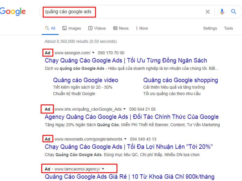Dấu Hiệu Nhận Biết Quảng Cáo Google Ads