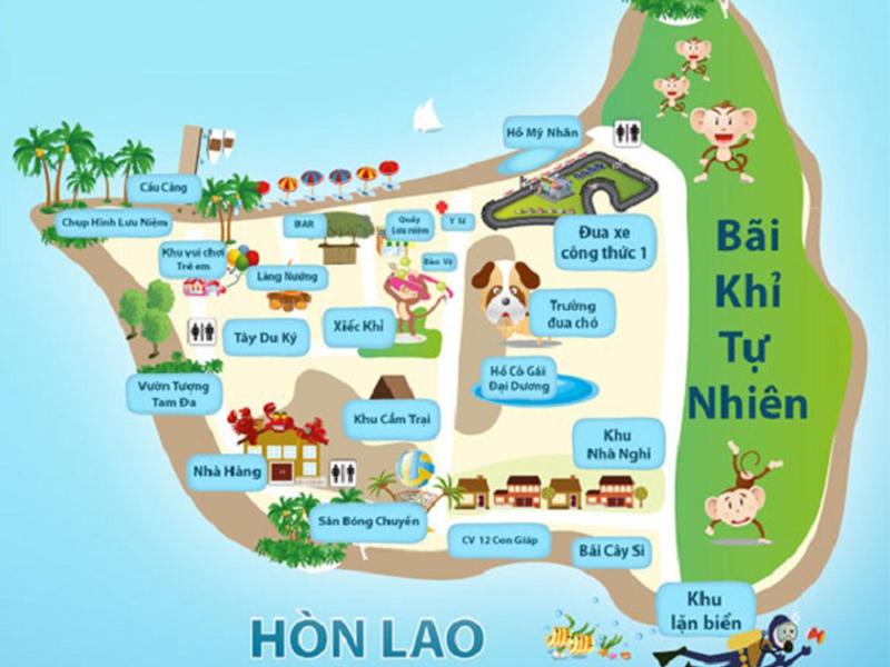 Bản đồ đảo khỉ nha trang
