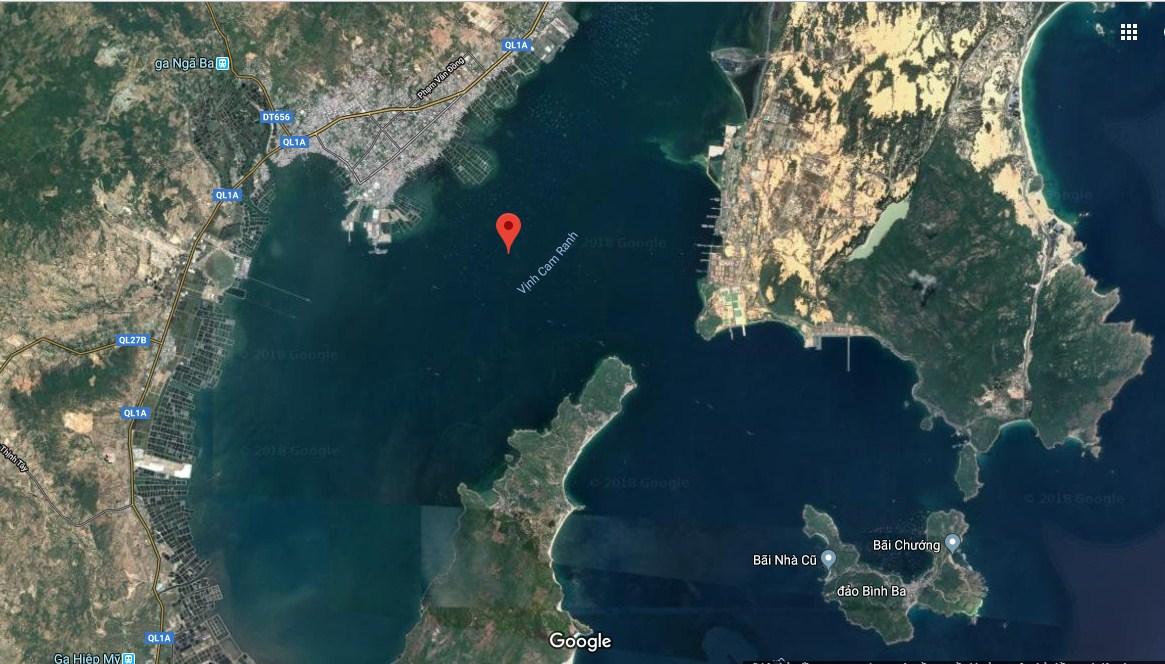 Bản đồ toàn cảnh vịnh Cam Ranh nhìn từ vệ tinh