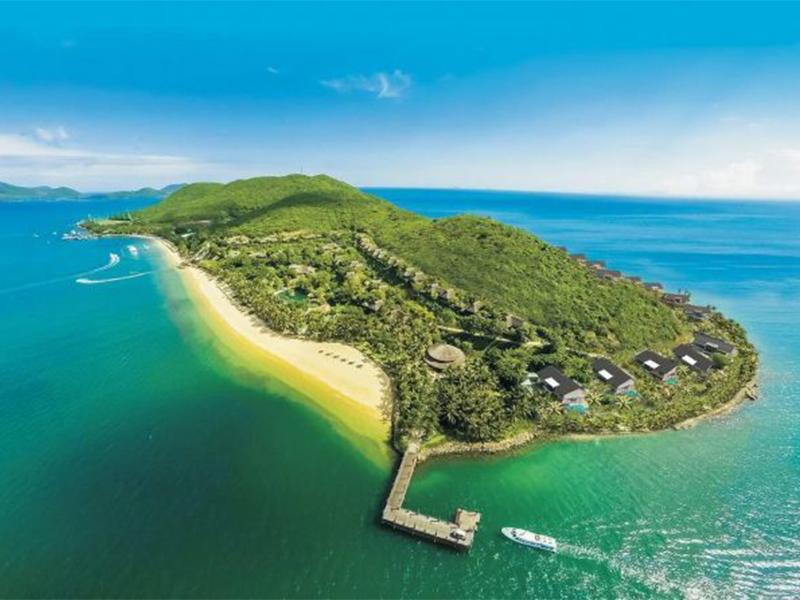 Đảo dừa Nha Trang nhìn từ trên cao