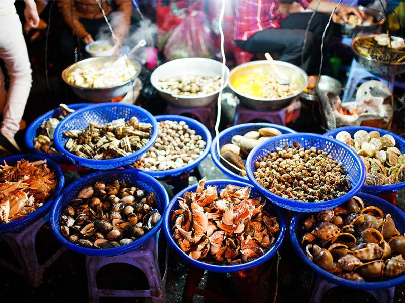 Đa dạng các loại hải sản