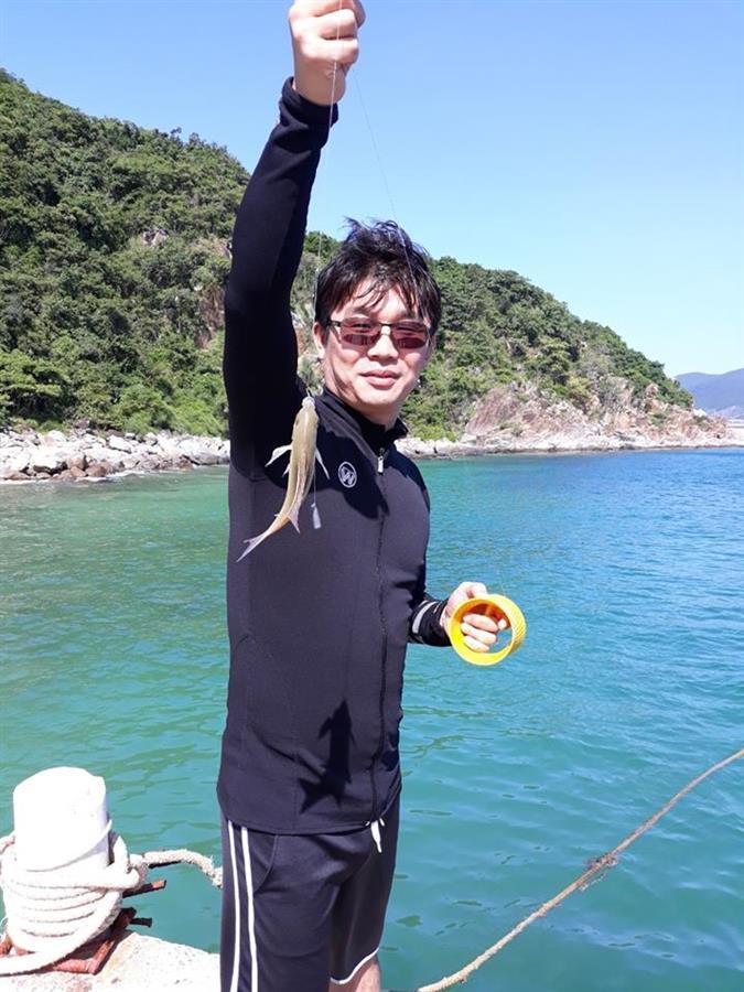 Câu cá ở Làng Chài Bích Đầm