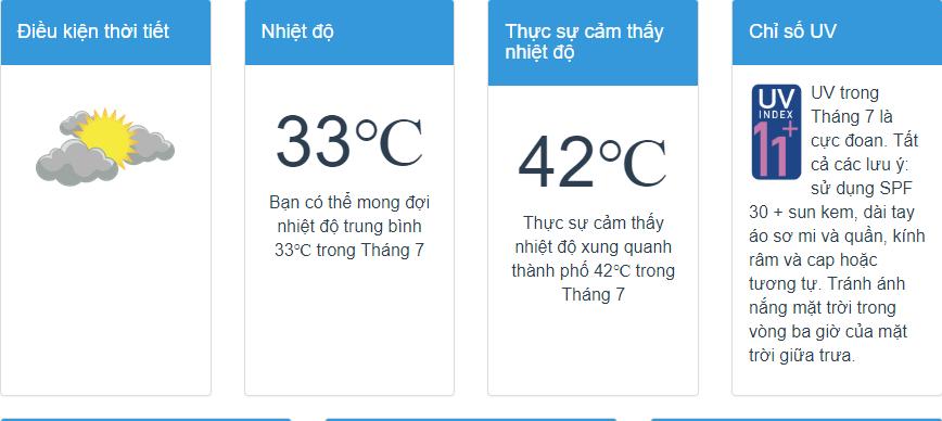 Biểu đồ nhiệt độ chi tiết