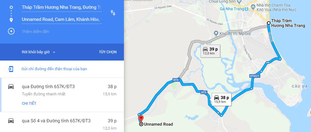Bản đồ đường đi đến Tàu Ngầm